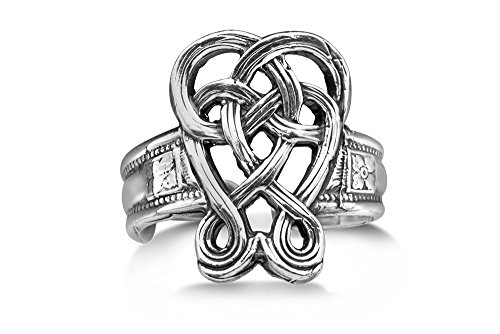 Antique Style Celtic Ring - Silver Spoon Jewelry Celtic Ring, Vintage Antique Style Adjustable Ring, Silver Plated