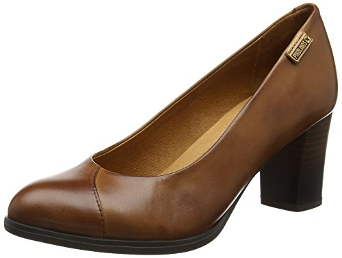 Toe Heels Cuero Viena Pikolinos W3n Cuero i17 Closed Women's Brown Y7wq4X