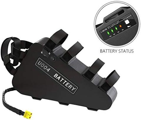 電動自転車のバッテリー、USBとのトライアングルフレームEbikeバッテリー、充電器と充電式リチウムイオンバッテリーバイク、大容量トライアングルebikeバッテリーパワー表示,48V15AH