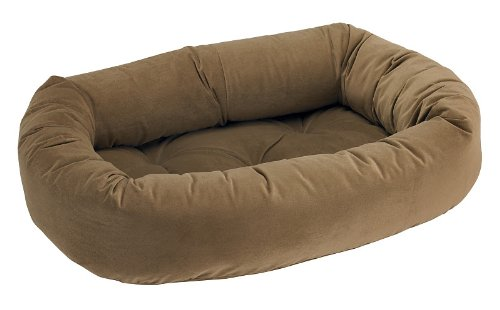 Bowsers Donut Dog Bed, Microvelvet Acorn, Medium 35""