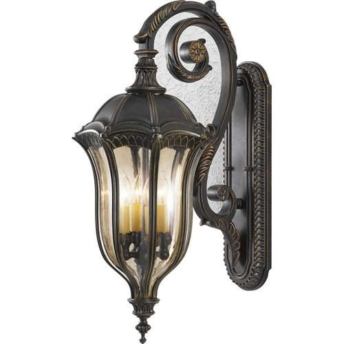 - Feiss Baton Rouge Walnut 4-Light Outdoor Wall-Mounted Lantern OL6004WAL