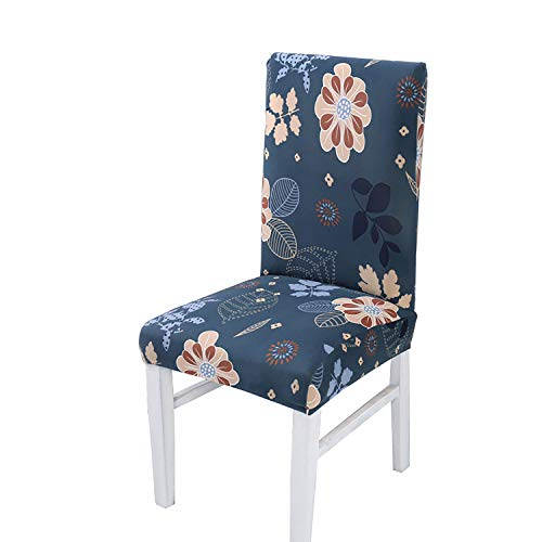 (Dining Chair Covers,Stretch Chair Covers General Purpose,2/4/6 Piece Dining Room Spandex Lycra Chair Covers| Perfect for Weddings, Banquets and Parties Christmas (Secret Garden Pattern),2Pack)