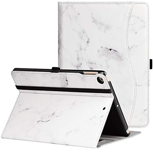 Ztotop Case for New IPad 9.7 Inch 2018/2017,Premium PU Leather Business Slim Folding Stand Folio Cover with Auto Wake/Sleep,Pencil Holder and Multiple Viewing Angles, Marble