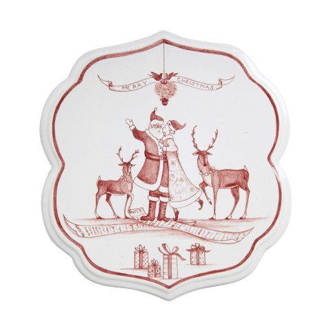 Juliska Trivet Country Estates Winter Frolic Ruby Mistletoe