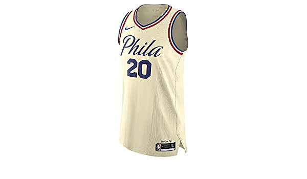 e4a6e9ff18f Amazon.com   Nike Markelle Fultz Philadelphia 76ers Authentic Cream City  Edition Jersey - Men s Large   Sports   Outdoors