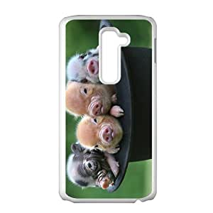 Custom So Cute Pig dibujos animados Animal Phone Case for LG G2