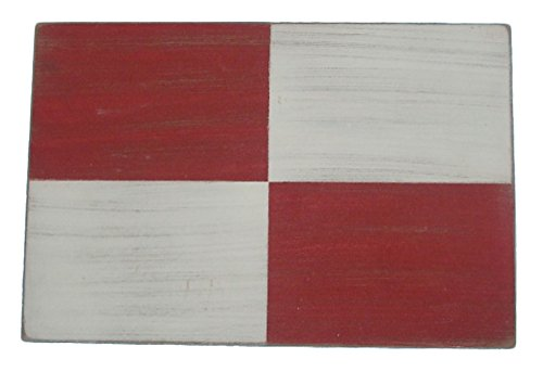 Ships Chandlery Nautical Maritime Signal Flag Decoration Wooden (Letter U)