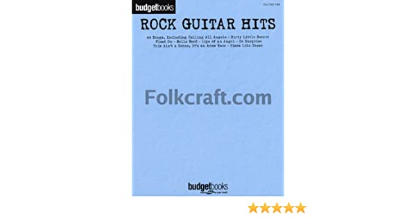 Budgetbooks: Rock Guitar Hits. Partituras para Guitarra, Textos y ...