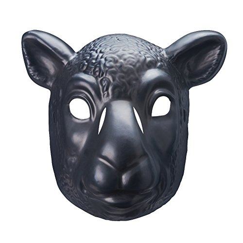 [Wyatt Family Black Sheep Braun Stowman Plastic Halloween Party WWE Mask] (Halloween Costumes For The Family)