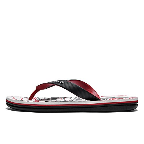 spiaggia Rosso 2018 da con da con Infradito da Casual stampati Scarpe fondo sandali uomo morbido uomo antiscivolo axCBarvwq