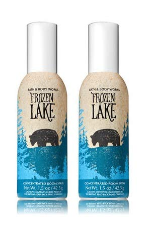 Bath and Body Works 2 Pack Frozen Lake Room Spray 1.5 Oz.