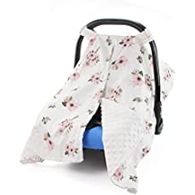 MHJY Premium Carseat Canopy Cover and Nursing Cover Organic Cotton Breathable Baby Car Canopy | Best Infant Car Seat Canopy for Boy or Girl | Best Baby Shower Gift for Breastfeeding Moms