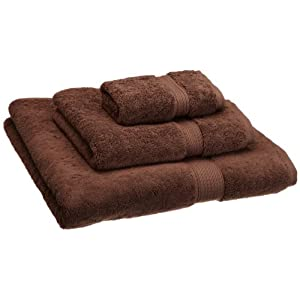 Superior 900 GSM Luxury Bathroom 3-Piece Towel Set, Made of 100% Premium Long-Staple Combed Cotton, Hotel & Spa Quality Washcloth, Hand Towel, and Bath Towel - Chocolate