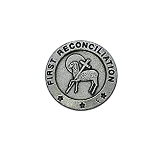 First Reconciliation with Lamb and Cross 3/4-inch Pewter Lapel Pin ...