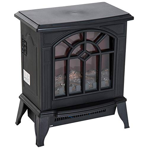 Cheap AyaMastro Black Indoor 1500W Metal Freestanding Electric Fireplace Portable Room Heater with LED Fire Flame with Ebook Black Friday & Cyber Monday 2019