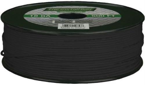 INSTALL BAY Black by Install Bay 500ft INSTALL BAY PWBK18500 18-Gauge Primary Wire