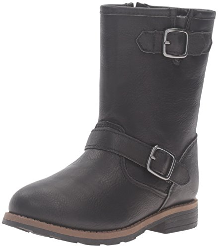 carter's Girls' Aqion Boot, Black, 7 M US Toddler