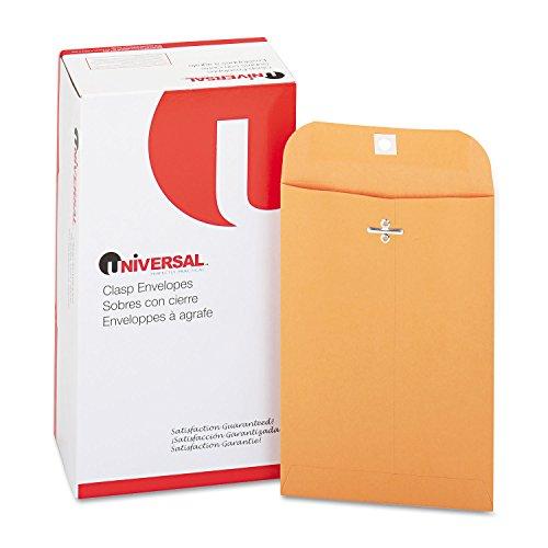 (Universal 35260 Kraft Clasp Envelope, 28lb, 55, 6 x 9, Brown Kraft, 100/Box)