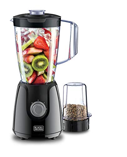 Black+Decker 400W Blender With Grinder Mill Plus Extra Blender Jar, Black - BX430J-B5 , 2 Years Warranty