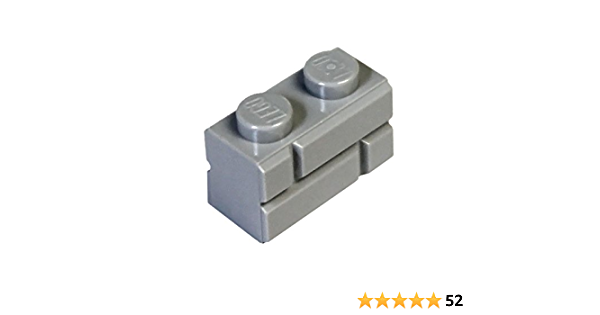 Lego 10x Brique Brick Modified 1x2 Masonry briquette gris//light b gray 98283 NEW