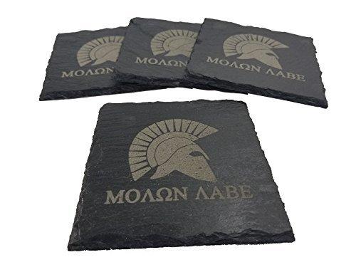 Molon Labe Slate Coaster Set [並行輸入品]   B07N8FM5VB