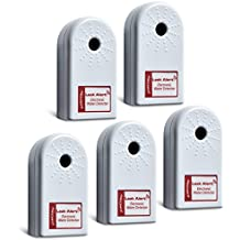 Zircon 68319 Leak Alert Home Pack - Electronic Water Detector with Audio Alarm (5 Pack) - Batteries Included - FFP
