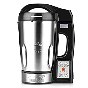 Hometech HS-03G 800W Jug Stainless Steel Electric Soup Maker Machine Smoothie Maker Blender with 56 Oz Capacity (Recipes Included)