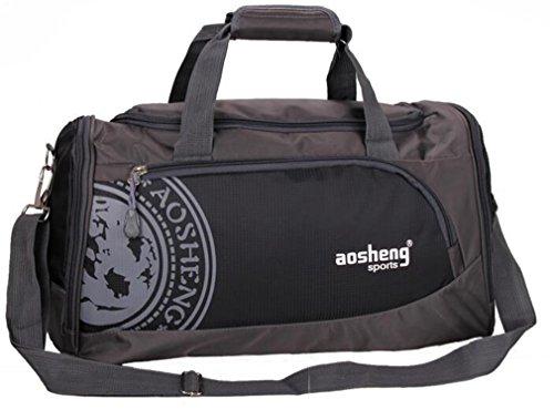 Sport Bag Men And Women Fitness Shoulder Gym Bag Training FeYoga Duffel Bag Black by Breadaye (Image #1)
