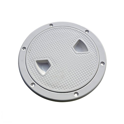 ECO-WORTHY Marine 8'' Boat Round Non Slip Inspection Hatch with Detachable Cover by ECO-WORTHY