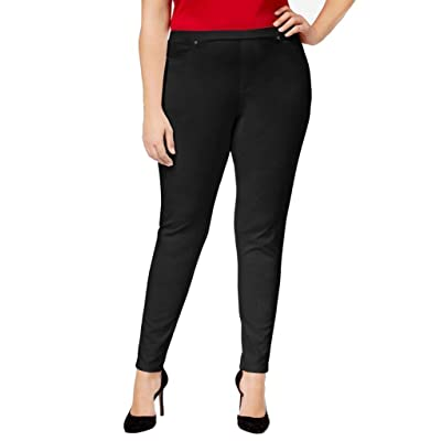 Style & Co.. Plus Size Knit Twill Leggings (2X) Deep Black at Women's Clothing store