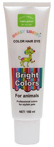 CRAZY LIBERTY Pets Hair Dye, Permanent Non-Toxic (Light Green), Hypoallergenic, for Creative Grooming.