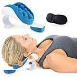Chiropractic Pillow, Cervical Pillow for Neck Pain Relief, Neck Support Device with Eye Mask