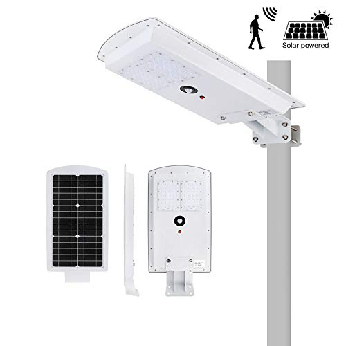 - Brillihood 25W LED Integrated Solar Street Light, IP65 Waterproof Dimmable Solar Pole Light with Motion Sensor, 6000K (Daylight White), Security Area Night Lamp for Indoor/Outdoor Lighting.