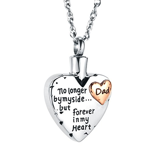 IMEIM Heart Cremation Urn Commemorative Necklace Ashes Stainless Steel Solid Meaningful Pendant Store Love Closed to My Heart Be Together Forever