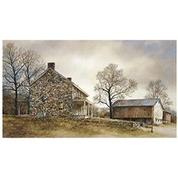 Ray Hendershot Primrose Farm Barn Country Farm Tree Landscape Print Poster 19x13