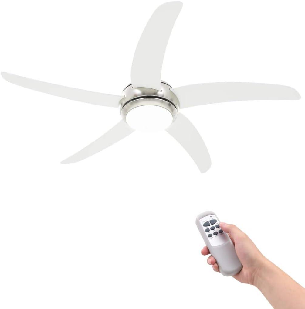 vidaXL Ventilador Lámpara Techo Mando Distancia 3 Velocidades ...