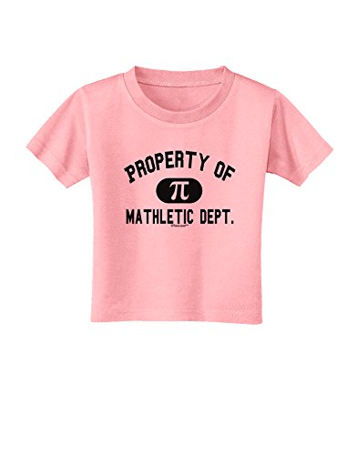 TooLoud Mathletic Department Toddler T-Shirt - Candy Pink - 2T