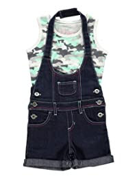 """Hello Gorgeous Little Girls' Toddler """"Camo Skull"""" 2-Piece Outfit"""