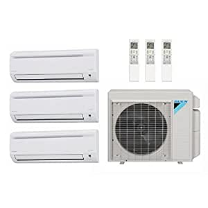daikin 39 000 btu 17 7 seer multi zone ductless mini split heat pump system ac and. Black Bedroom Furniture Sets. Home Design Ideas