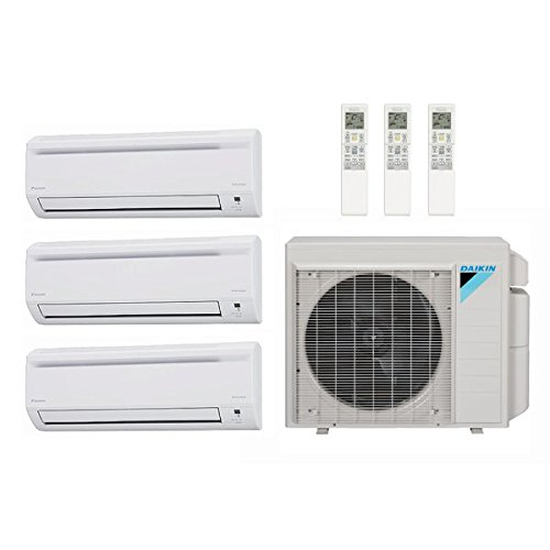 daikin 40 000 btu 17 7 seer multi zone ductless mini split heat pump system ac and heat 7k. Black Bedroom Furniture Sets. Home Design Ideas