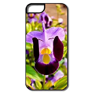 IPhone 5 Cases, Flower Cases For IPhone 5 5S - White/black Hard Plastic