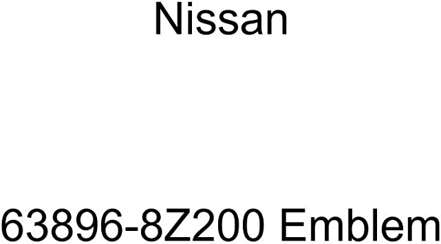 Nissan Genuine 63896-8Z200 Emblem