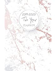 2019-2020 Two Year Planner: Elegant Marble Cover, 24 Months Planner and Calendar, Two Year Monthly Calendar Planner, Agenda Planner and Schedule Organizer, Journal Planner Personal Management Record (2 Year Calendar Logbook Diary Notebook) (Volume 5)