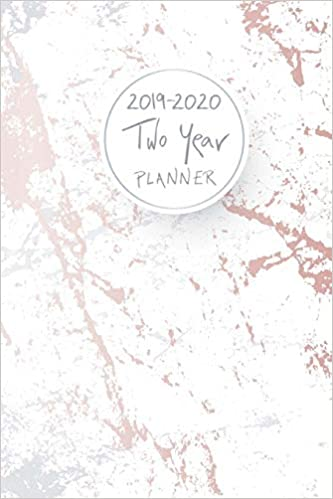 2019-2020 Two Year Planner: Elegant Marble Cover, 24 Months ...