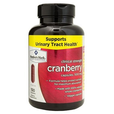 Member's Mark Clinical Strength 500mg Cranberry Dietary Supplement (150 ct.) by Members Mark