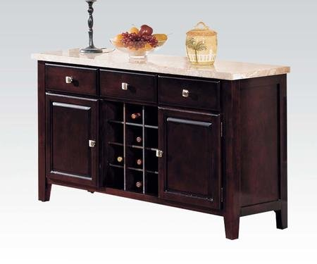 Acme Furniture 17057 Britney Server White Marble & (Buffet Marble Top)
