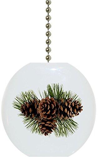 Pinecones Solid Ceramic Fan Pull