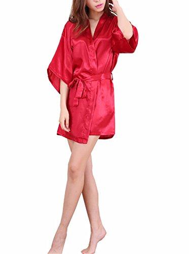 Yall Señora Manto Imitación Seda Seda Hielo Pijamas Red