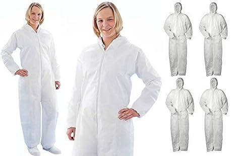 5 x colores PP 40 g capucha traje de protección pintor de ...