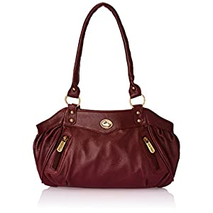 Fostelo Women's Maroon Leather Handbag FSB-101